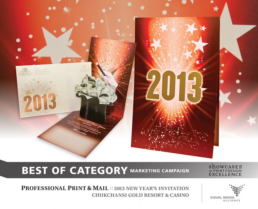 Showcase 2013 - Marketing Campaign - Professional Print and Mail