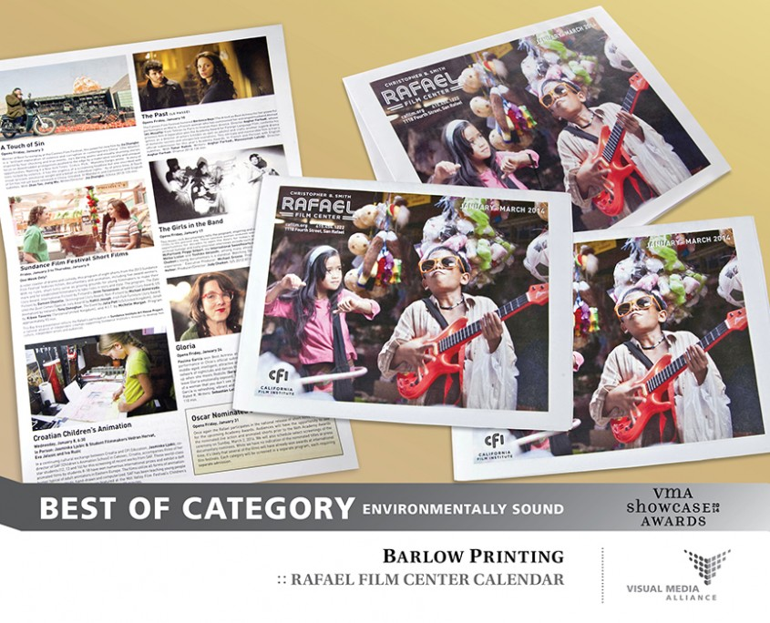 Showcase 2014 - Best of Category - Environmentally Sound - Barlow Printing