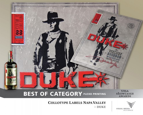 Showcase 2014 - Best of Category - Flexo Printing - Collotype Labels Napa Valley