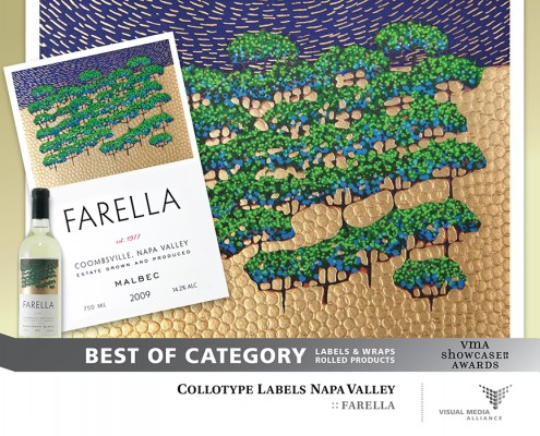 Showcase 2014 - Best of Category - Labels Wraps Rolled Products - Collotype Labels Napa Valley