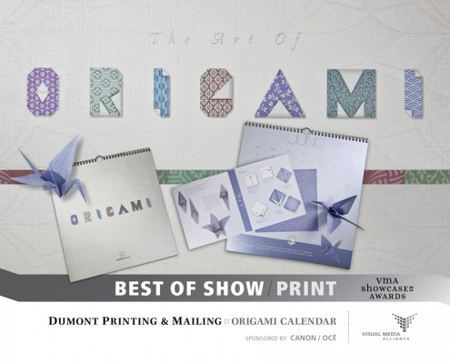 Showcase 2014 Best of Show Print - Dumont Printing - Origami Calendar
