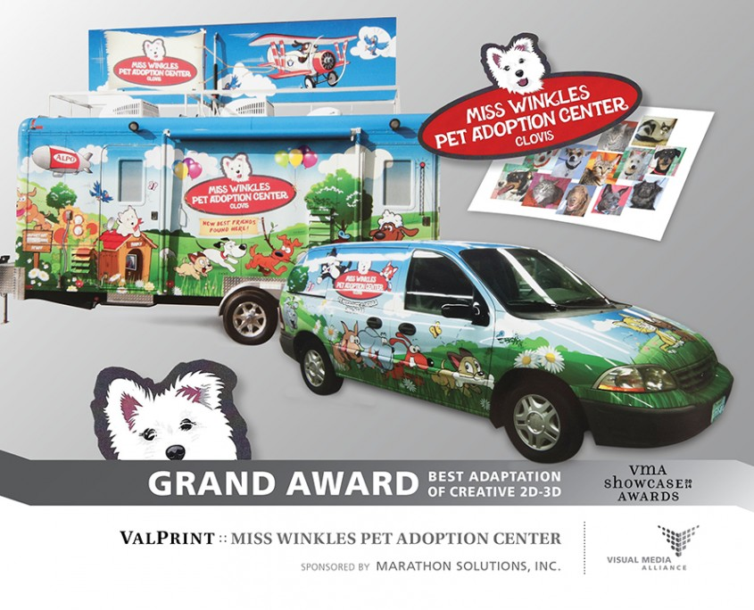 Showcase 2014 - GA - Best Adaptation of Creative 2D 3D - ValPrint