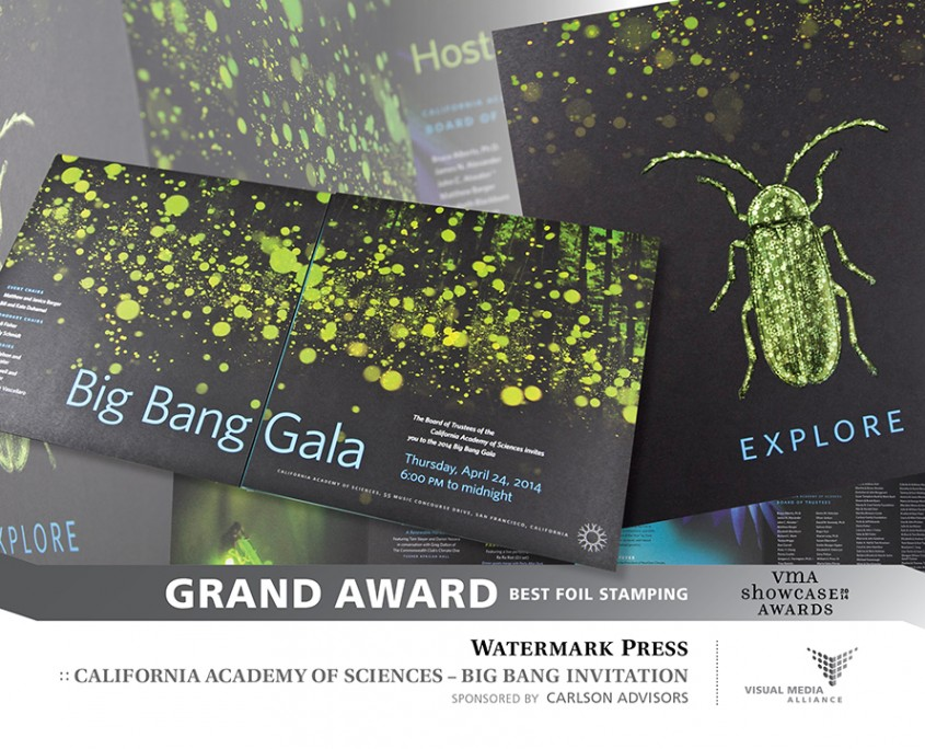 Showcase 2014 - Grand Award - Foil Stamp - Watermark Press