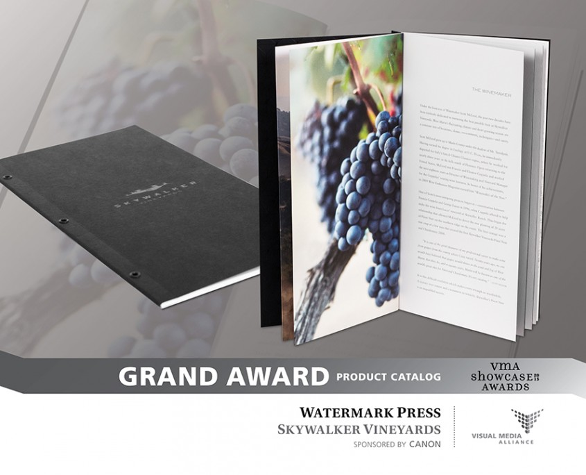 Showcase 2015 - Grand Award - Product Catalog - Watermark Press