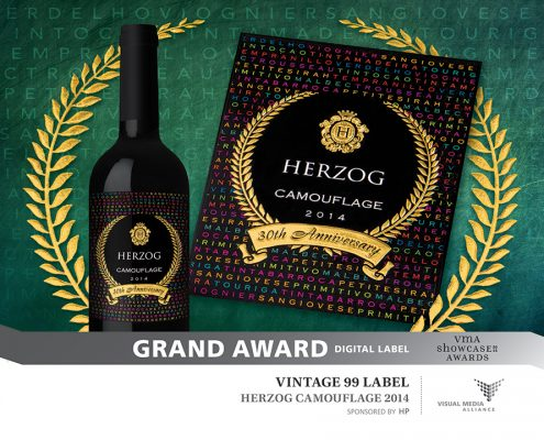 Showcase 2016 - Grand Award - Digital Label - Vintage 99 Label - Herzog Camouflage 2014