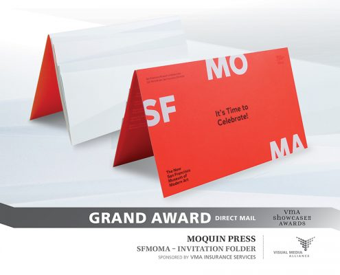 Showcase 2016 - Grand Award - Direct Mail - Moquin Press - SFMOMA Invitation Folder