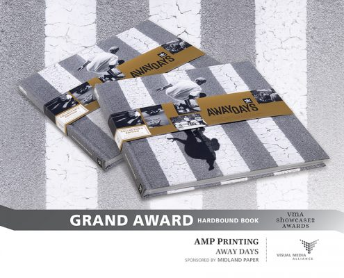 Showcase 2016 - Grand Award - Hardbound Book - AMP Printing - Away Days