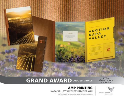 2017 Showcase - GA - AMP Printing - Napa Valley Vintner's Invites You